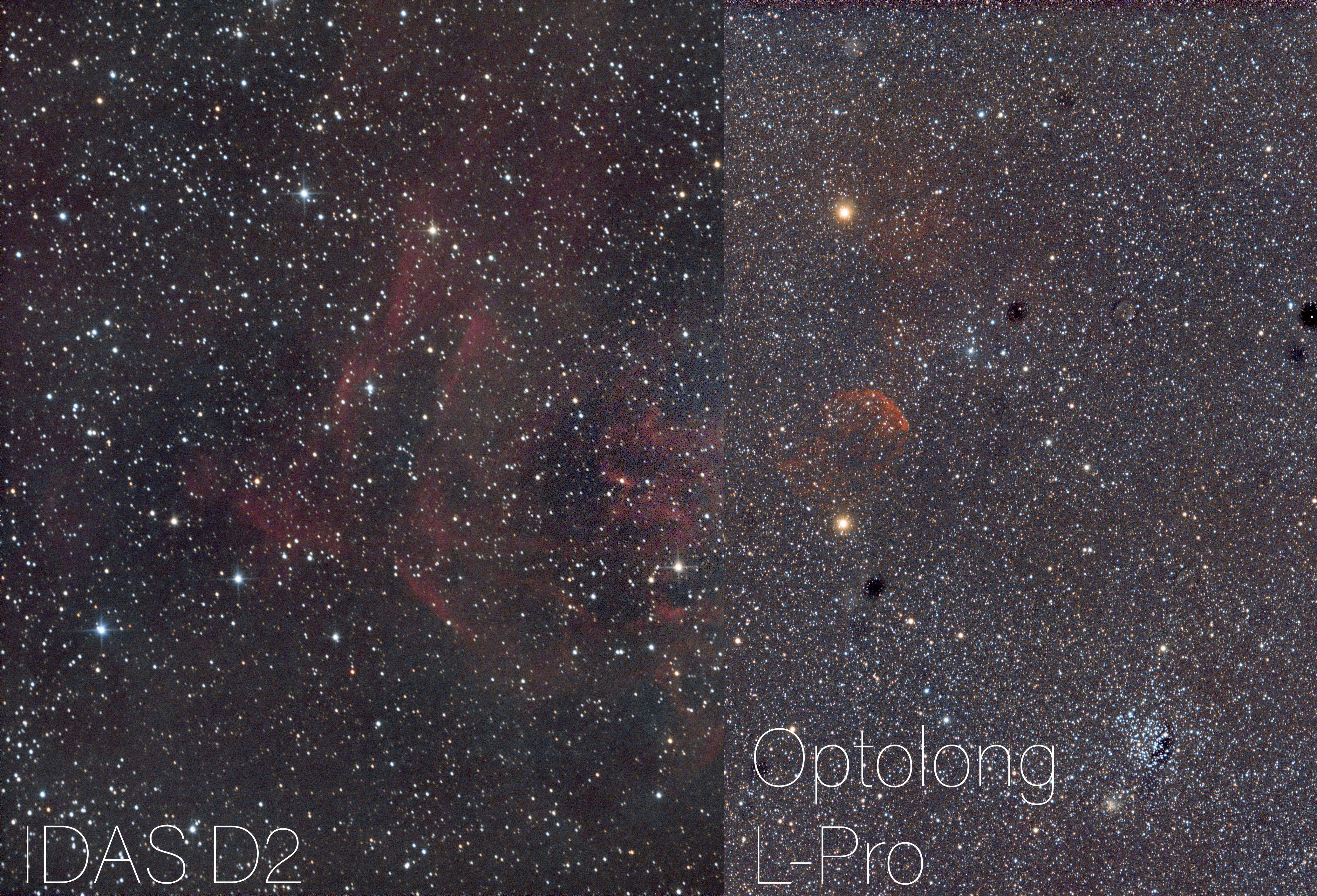 Usporedba IDAS D2 i Optolong L-Pro