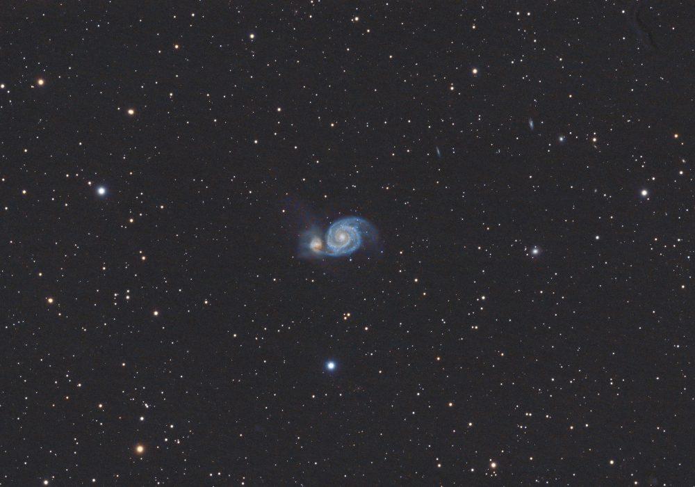 M51 Whirlpool Galaxy  i komet C/2019 Y4(ATLAS)