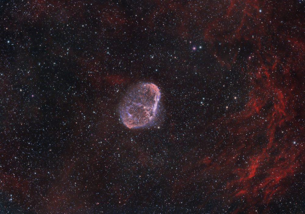 NGC6888 Cresent nebula HOO (star RGB )